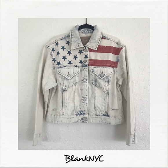Blank NYC Jackets & Blazers - BLANKNYC American Flag Jean Jacket NWT